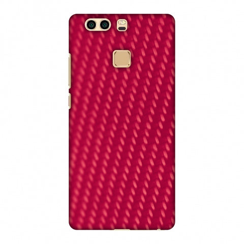 Carbon Fibre Redux CAndy Red 13 Slim Hard Shell Case For Huawei P9 Plus