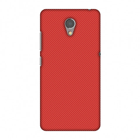 Carbon Fibre Redux CAndy Red 15 Slim Hard Shell Case For Lenovo P2