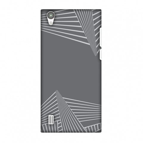 Carbon Fibre Redux Stone Gray 3 Slim Hard Shell Case For Vivo Y15s-Y15