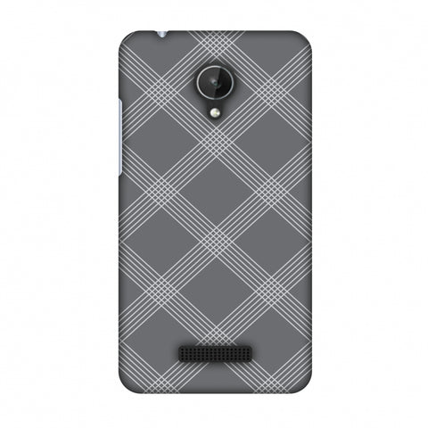 Carbon Fibre Redux Stone Gray 5 Slim Hard Shell Case For Micromax Canvas Spark Q380