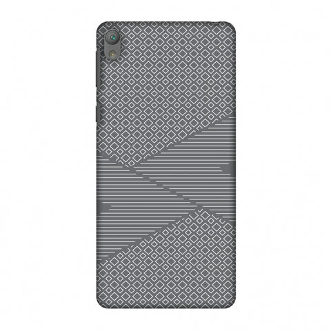 Carbon Fibre Redux Stone Gray 6 Slim Hard Shell Case For Sony Xperia E5