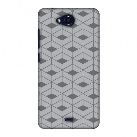 Carbon Fibre Redux Stone Gray 9 Slim Hard Shell Case For Micromax Canvas Play Q355