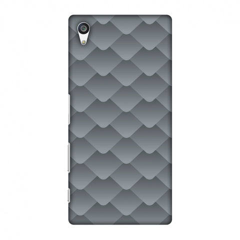 Carbon Fibre Redux Stone Gray 10 Slim Hard Shell Case For Sony Xperia Z5