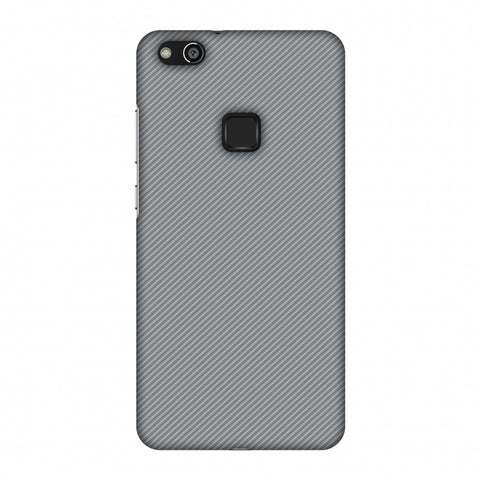 Carbon Fibre Redux Stone Gray 16 Slim Hard Shell Case For Huawei P10 Lite