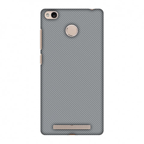 Carbon Fibre Redux Stone Gray 16 Slim Hard Shell Case For Xiaomi Redmi 3S Prime