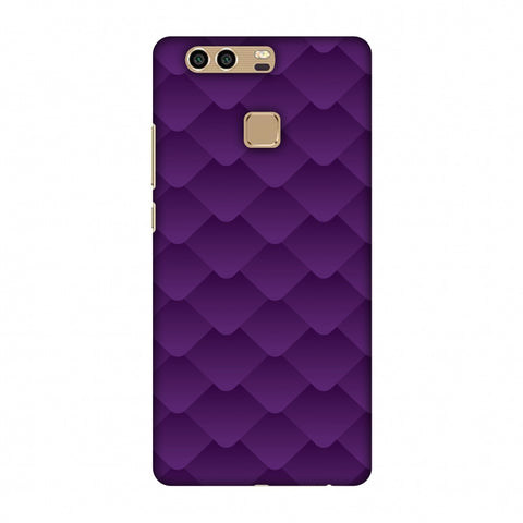 Carbon Fibre Redux Electric Violet 1 Slim Hard Shell Case For Huawei P9