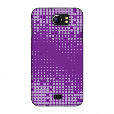 Carbon Fibre Redux Electric Violet 2 Slim Hard Shell Case For Micromax Canvas 2 A110