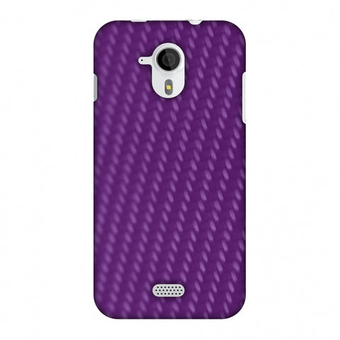 Carbon Fibre Redux Electric Violet 3 Slim Hard Shell Case For Micromax Canvas HD A116