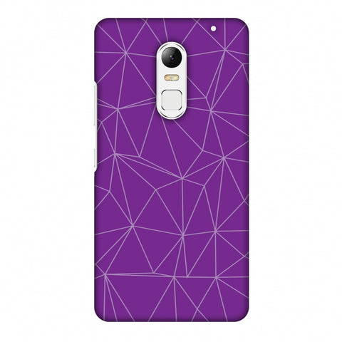 Carbon Fibre Redux Electric Violet 4 Slim Hard Shell Case For Lenovo Vibe X3