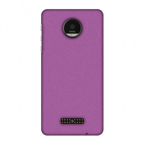 Carbon Fibre Redux Electric Violet 5 Slim Hard Shell Case For Motorola Moto Z