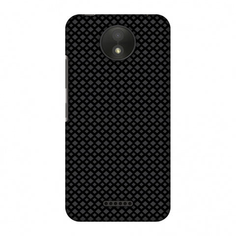 Carbon Fibre Redux 7 Slim Hard Shell Case For Motorola Moto C Plus