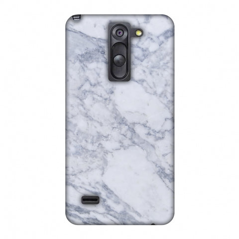 White Marble 1 Slim Hard Shell Case For LG G3 Stylus D690