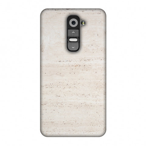 Beige Marble Slim Hard Shell Case For LG G2 D802