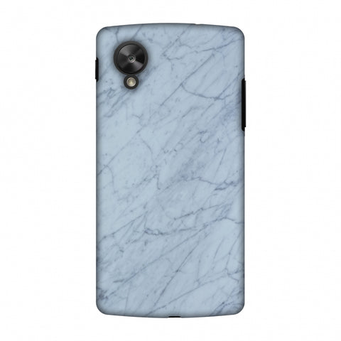 White Marble 3 Slim Hard Shell Case For Google Nexus 5