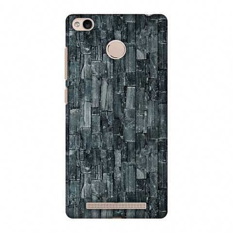Charcoal Marble Slim Hard Shell Case For Xiaomi Redmi 3S Prime