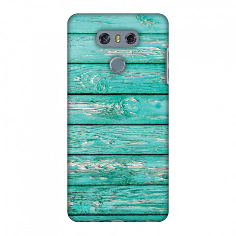 Teal Wood Slim Hard Shell Case For LG G6