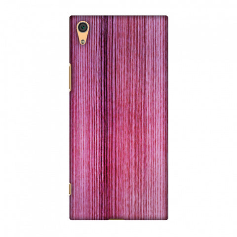Pink Wood Slim Hard Shell Case For Sony Xperia XA1