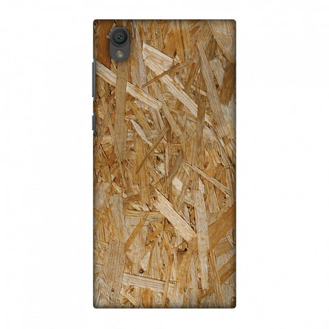 Chipboard Wood Slim Hard Shell Case For Sony Xperia L1