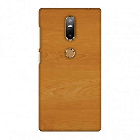 Brown Wood Slim Hard Shell Case For Lenovo Phab 2 Plus