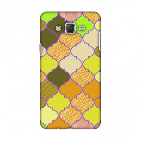 Stained Glass - Chocolate Orange Slim Hard Shell Case For Samsung Galaxy J7