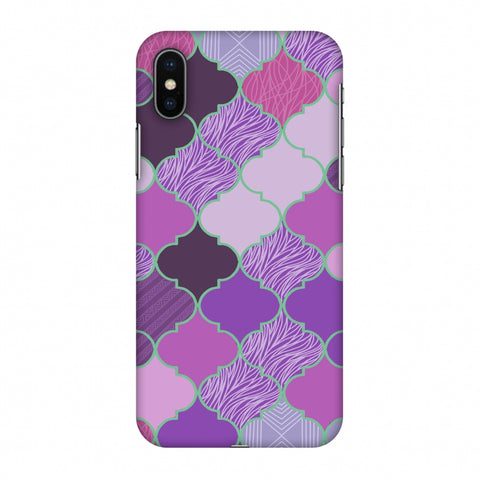 Stained Glass - Lavender Slim Hard Shell Case For Apple iPhone X