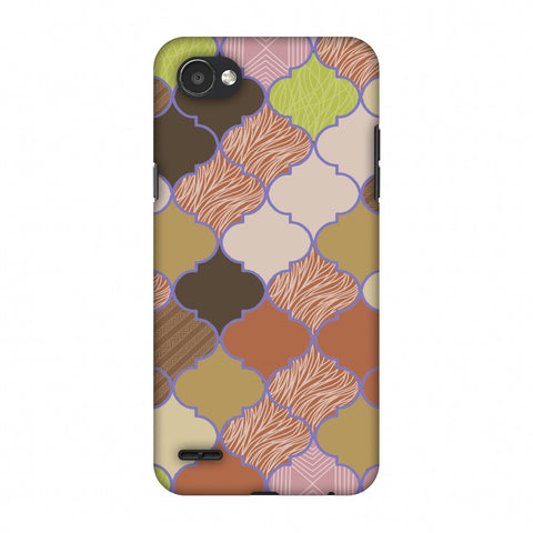 Stained Glass - Mud Brown And Cotton CAndy Slim Hard Shell Case For LG Q6