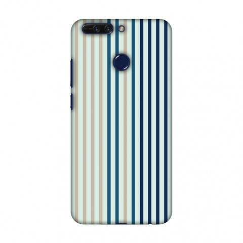 Stripes - Blues Slim Hard Shell Case For Huawei Honor 8 Pro