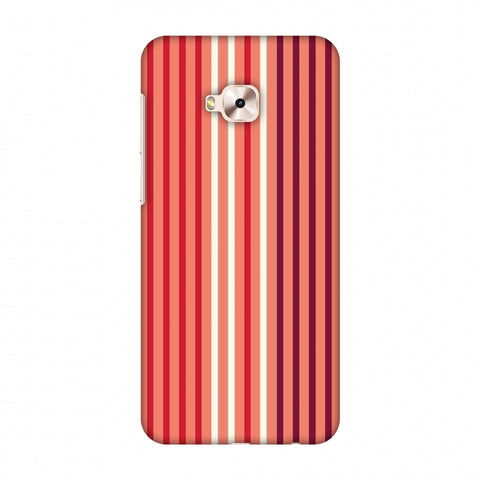 Stripes - Coral And Red Slim Hard Shell Case For Asus ZenFone 4 Selfie Pro ZD552KL