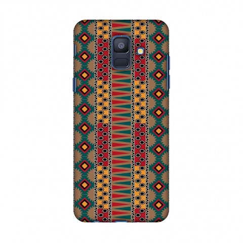 Tribal Stripes - Summer Sun Slim Hard Shell Case For Samsung Galaxy A6