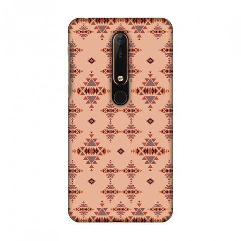 Tribal Tessellations - SAnd And Mustard Slim Hard Shell Case For Nokia 6 2018