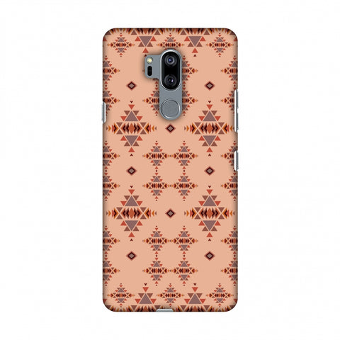 Tribal Tessellations - SAnd And Mustard Slim Hard Shell Case For LG G7 ThinQ