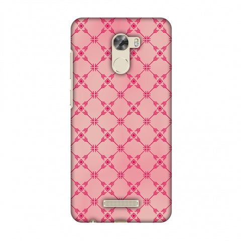 Tribal Mesh - Airbrushed Pink Slim Hard Shell Case For Gionee A1 Lite