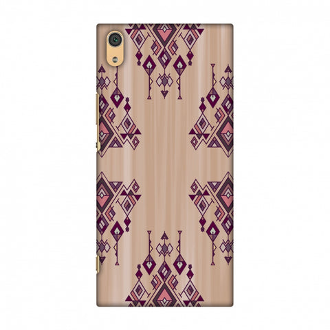 Tribal Dangles - Antique Ruby Slim Hard Shell Case For Sony Xperia XA1 Ultra