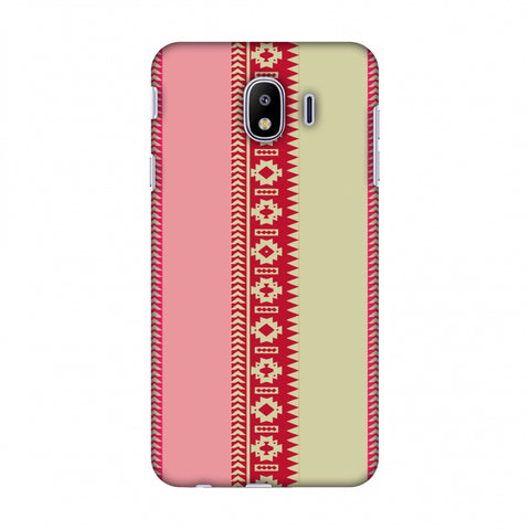 Tribal Patterns And Solids - Beige And Flamingo Pink Slim Hard Shell Case For Samsung Galaxy J4