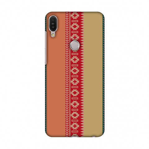 Tribal Patterns And Solids - Teal And Brick Red Slim Hard Shell Case For Asus Zenfone Max Pro M1