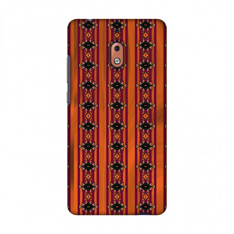 Tribal Repeats - Bright Mustard Slim Hard Shell Case For Nokia 2.1