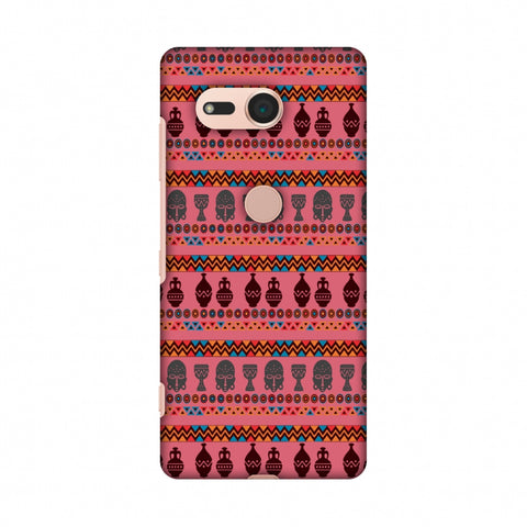 Masks And Pottery - Pink And Grey Slim Hard Shell Case For Sony Xperia XZ2 Compact