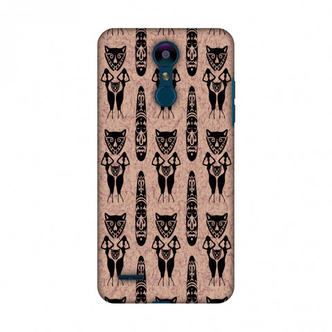 Tribal Murals - Black And Beige Slim Hard Shell Case For LG K10 2018