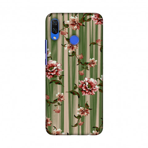 Dahlia With Texture - Olive And Red Slim Hard Shell Case For Huawei Nova 3