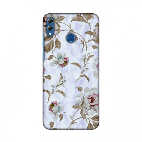 TextuRed Roses - Lavender And Pearl White Slim Hard Shell Case For Huawei Honor 8X Max