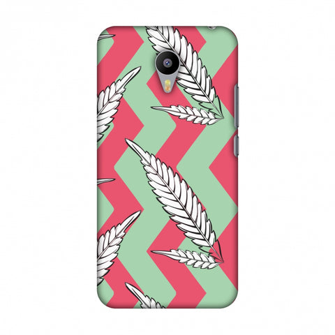 Along The Chevron - Pink And Pale Green Slim Hard Shell Case For Meizu M2 note