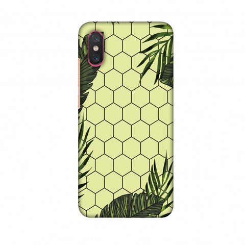 Tropical Leaves - Honey Yellow Slim Hard Shell Case For Xiaomi Mi 8 Pro