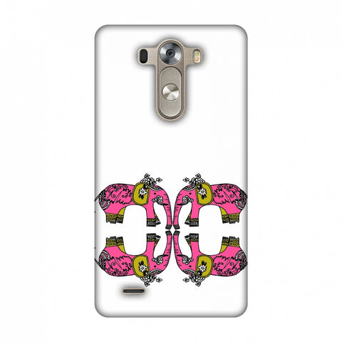 Elephant Repeats - Transparent Slim Hard Shell Case For LG G3 D855