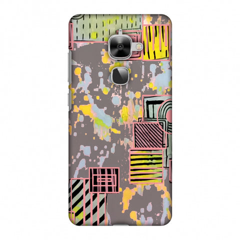 Painted Blocks - Grey Slim Hard Shell Case For LeEco Le 2