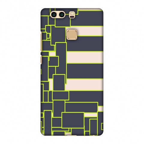 Brick Blocks - Beige And Grey Slim Hard Shell Case For Huawei P9 Plus