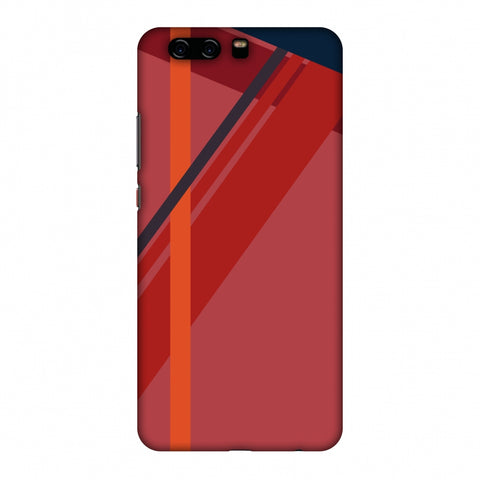 CAndy Stripes - Fierce Red Slim Hard Shell Case For Huawei P10 Plus