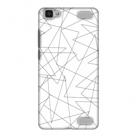 Criss Cross - Beige Slim Hard Shell Case For Vivo V1 Max