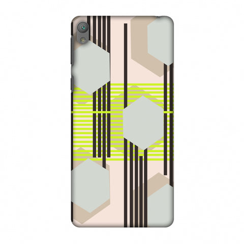 Honeycomb Hybrid - Teal And Baby Pink Slim Hard Shell Case For Sony Xperia E5