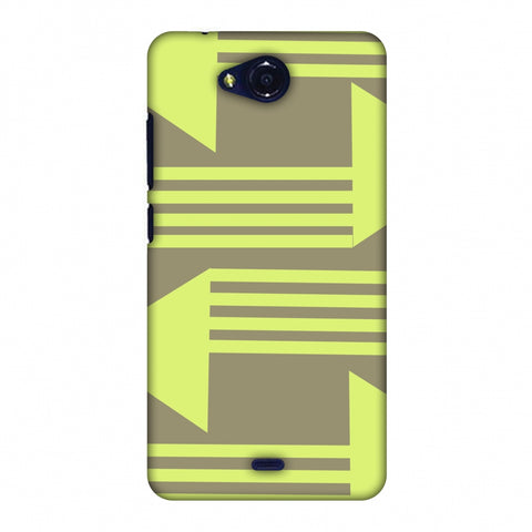 Neon Triangles - Pale Brown Slim Hard Shell Case For Micromax Canvas Play Q355
