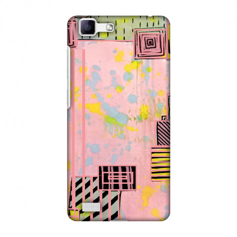 Overall Blocking - Pink Slim Hard Shell Case For Vivo Y35-V1